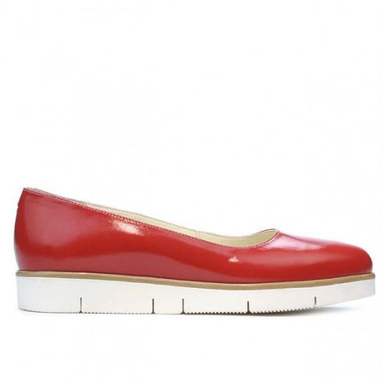 Pantofi casual dama 677 lac rosu