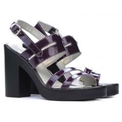 Women sandals 5027 patent purple