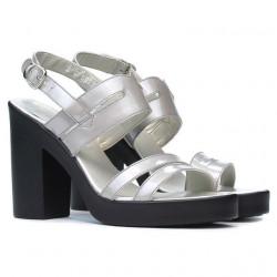 Sandale dama 5027 lac argintiu