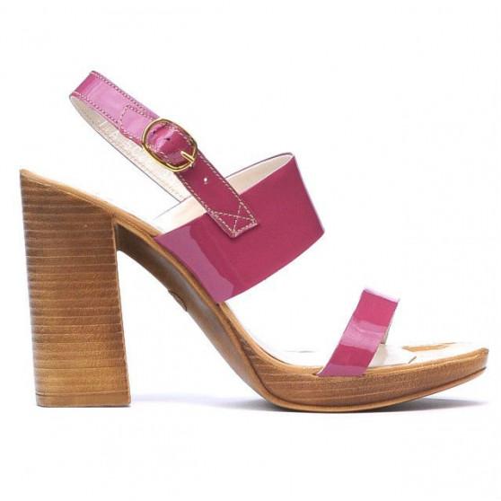 Women sandals 5028 patent fucsia
