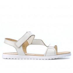 Women sandals 5039 beige pearl
