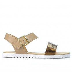 Sandale dama 5036 aramiu+bej