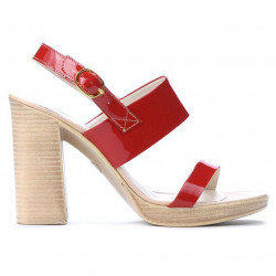 Women sandals 5028 patent red