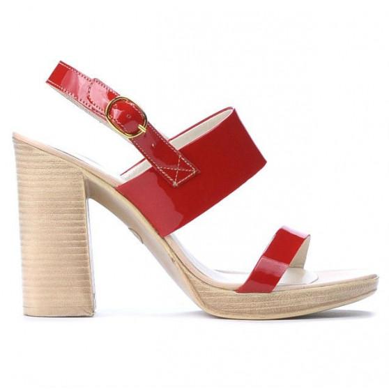 Sandale dama 5028 lac rosu