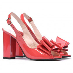 Sandale dama 1256 lac rosu corai