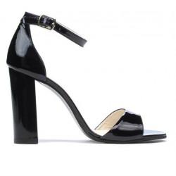 Sandale dama 1259 lac negru+mov (cameleon)