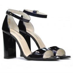 Women sandals 1259 patent black+purple (cameleon)