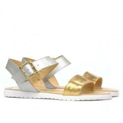 Women sandals 5036 golden+silver