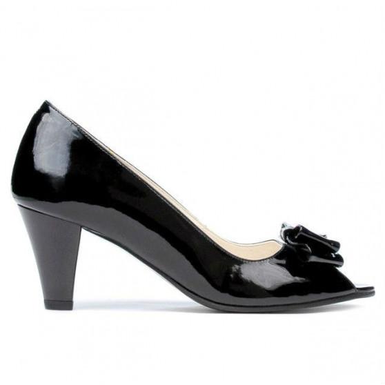 Women sandals 1255 patent black