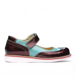 Pantofi copii 153 lac borbo combinat 01