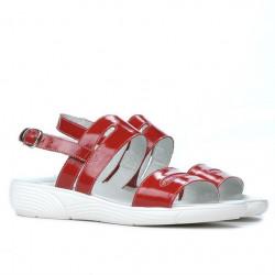 Sandale dama 5035 lac rosu