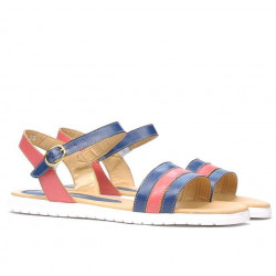 Sandale dama 5037 indigo combinat
