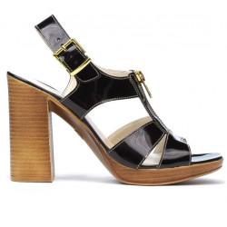 Sandale dama 5029 lac bordo