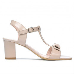 Women sandals 1257 patent ivory