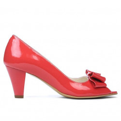 Women sandals 1255 patent red coral