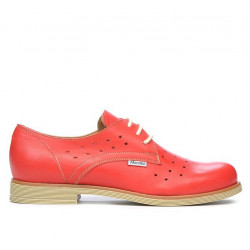 Women casual shoes 678 red coral