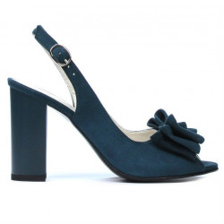Sandale dama 1256 turcoaz antilopa 01