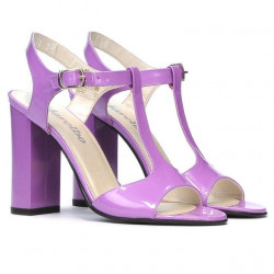 Women sandals 1258 patent light purple