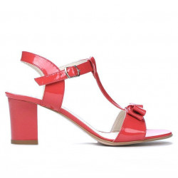 Women sandals 1257 patent red coral