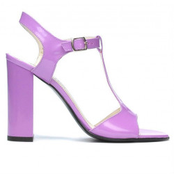 Women sandals 1258 patent light purple