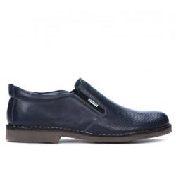 Pantofi casual barbati 7200p indigo perforat