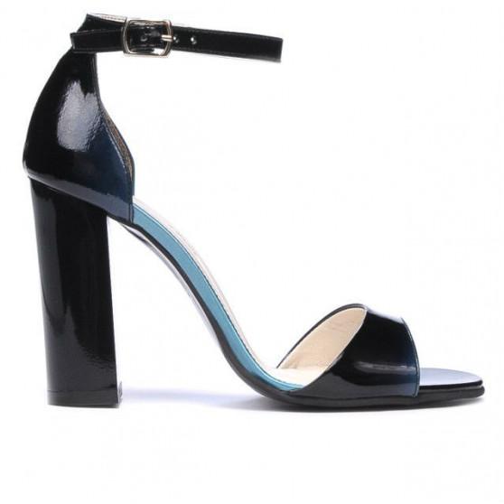 Sandale dama 1259 lac bleu+negru