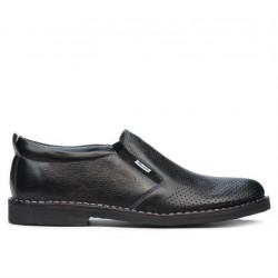 Pantofi casual barbati 7200p negru perforat