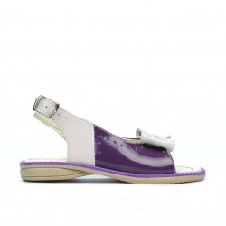 Small children sandals 58c patent purple+beige