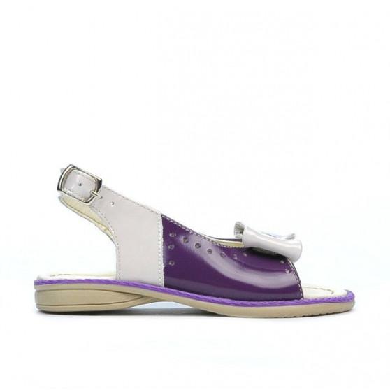 Small children sandals 58c patent purple+beige