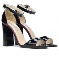 Women sandals 1259 patent bordo+black