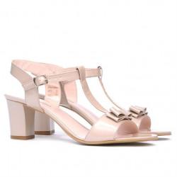 Women sandals 1257 patent beige pearl