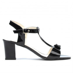 Sandale dama 1257 lac negru