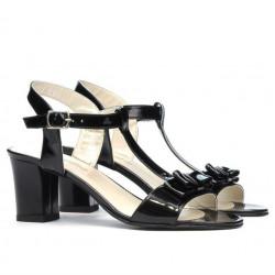 Women sandals 1257 patent black