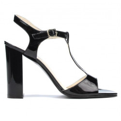 Women sandals 1258 patent black