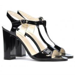Women sandals 1258 patent black