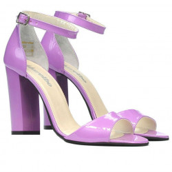 Women sandals 1259 patent light purple