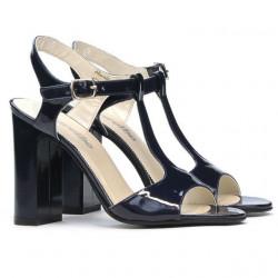 Women sandals 1258 patent indigo