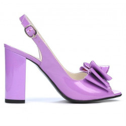 Women sandals 1256 patent light purple