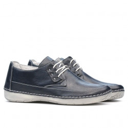 Women loafers, moccasins 672s indigo