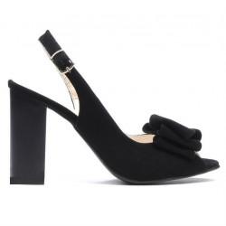 Women sandals 1256 black antilopa