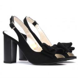 Sandale dama 1256 negru antilopa