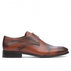 Men stylish, elegant shoes 822 a brown