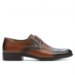 Men stylish, elegant shoes 837 a brown