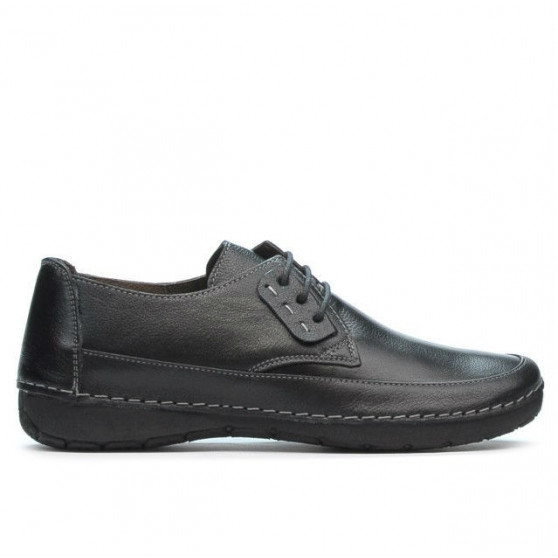Women loafers, moccasins 672s black