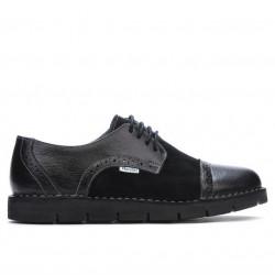 Pantofi casual dama 7001-1 negru combinat