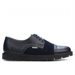 Pantofi casual dama 7001-1 indigo combinat