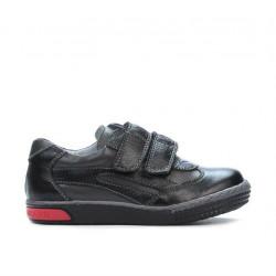 Pantofi copii mici 16-1c negru+gri