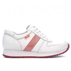 Pantofi sport dama 679 alb+rosu