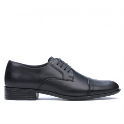 Men stylish, elegant shoes 838 black