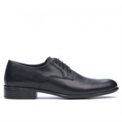 Men stylish, elegant shoes 837 black
